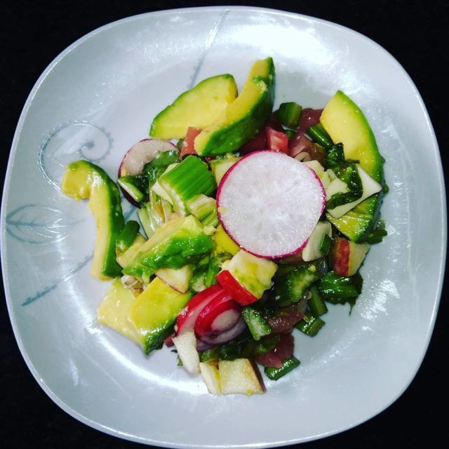 salad ensalada saludable healthyeating vegetables avocado nutritiva nutrition vegan instafoodhellip